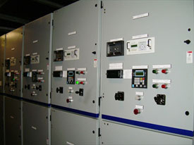 Generator control switchboards onsite at Atlantis Paradise Island